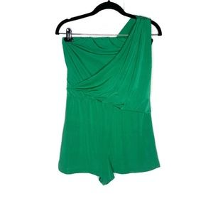 Charlotte Russe NWT Green Shorts Romper